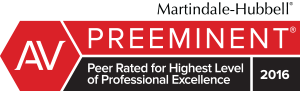 Martindale-Hubbell AV Preeminent Peer Rated for Highest Level of Professional Excellence