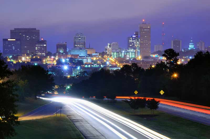 Local Governement Law - columbia sc cityscape at night time